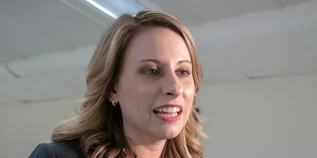 Former U.S. Rep. Katie Hill, D-Calif., is seen on Capitol Hill in Washington, April 3, 2019. (Associated Press)