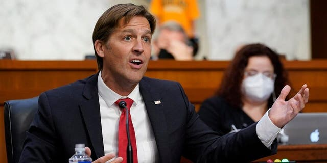 Sen. Ben Sasse, R-Neb., speaks during a confirmation hearing for Supreme Court nominee Amy Coney Barrett before the Senate Judiciary Committee, Monday, Oct. 12, 2020, on Capitol Hill in Washington. (AP Photo/Susan Walsh, Pool)
