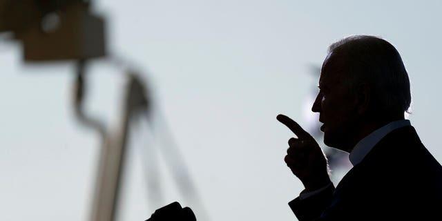 Democratic presidential candidate former Vice President Joe Biden speaks at Miramar Regional Park in Miramar, Fla.