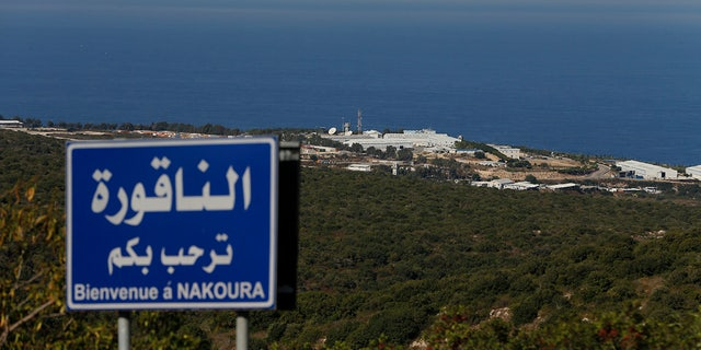 A general view shows a base of the U.N. peacekeeping force in the southern Lebanese border town of Naqoura, Lebanon, Wednesday, Oct. 14, 2020. (AP Photo/Bilal Hussein)