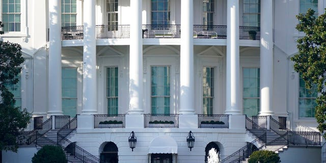 FILE: The White House as seen on Monday afternoon, Oct. 5, 2020, in Washington.