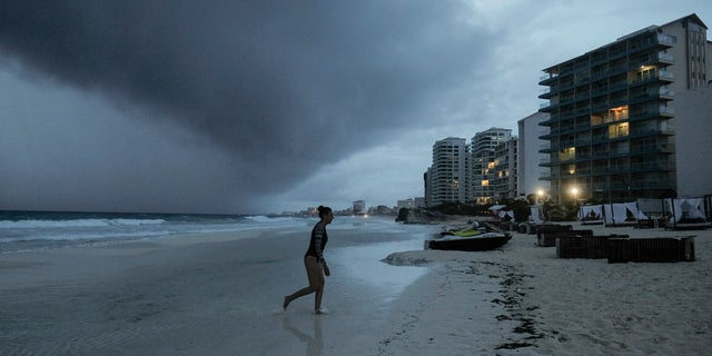 Clouds gather over Playa Gaviota Azul as Tropical Storm Zeta approaches Cancun, Mexico, Monday, Oct. A strengthening Tropical Storm Zeta is expected to become a hurricane Monday as it heads toward the eastern end of Mexico's resort-dotted Yucatan Peninsula and then likely move on for a possible landfall on the central U.S. Gulf Coast at midweek. (AP Photo/Victor Ruiz Garcia)