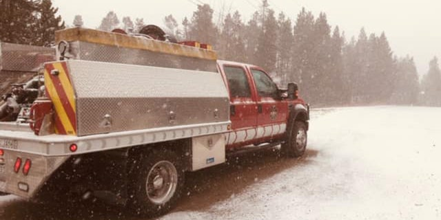"Snow fell Sunday near the East Troublesome Fire in a ""welcome sight"" for firefighters."