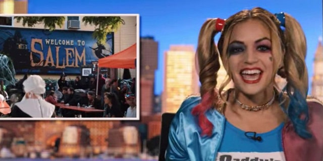 "Alaina Pinto claims she was fired from WHDH Channel 7 News for appearing as Harley Quinn in ""Hubie Halloween."""