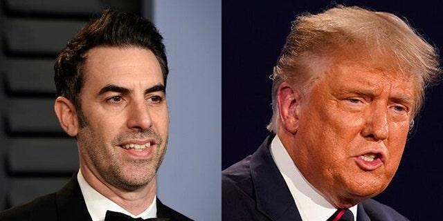 Sacha Baron Cohen mocked Donald Trump for losing the election.