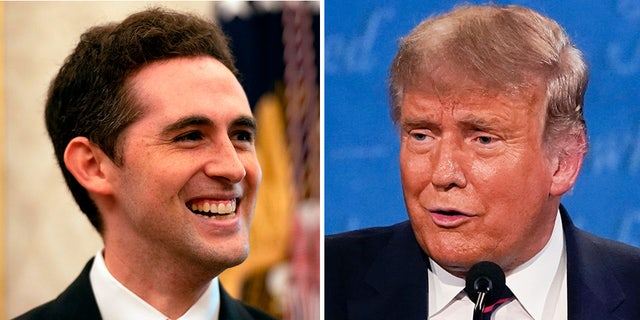Avraham Berkowitz, Assistant to the President and Special Representative for International Negotiations, and President Trump