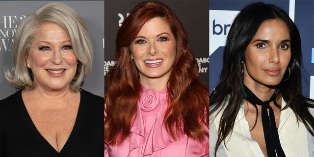 Bette Midler, Debra Messing and Padma Lakshmi all commented on the 2020 presidential race.