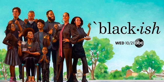 Artwork by Kadir Nelson highlighting the cast of 'black-ish' ahead of the show's seventh season. (Kadir Nelson/AB via AP)
