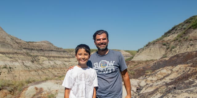 12-year-old Nathan Hrushkin discovered the fossils.