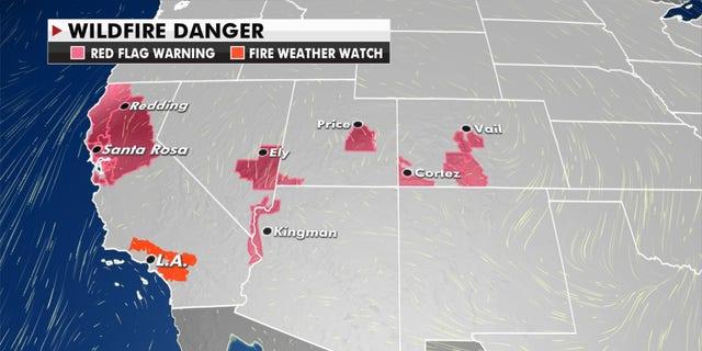 Wildfire danger, Oct. 15, 2020 (Janice Dean/Fox News)