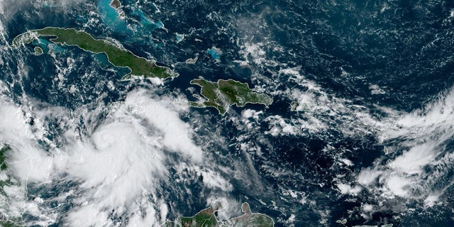 Tropical Storm Delta is gathering strength over the Caribbean Sea on Monday, Oct. 5, 2020.