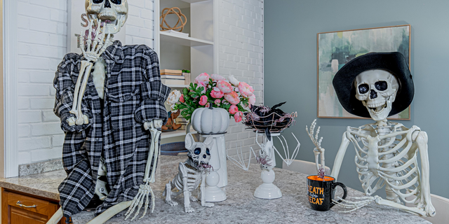 To haunt a home, the real estate agent and her team will spend hours decorating.