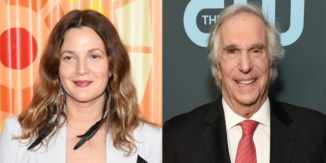 Drew Barrymore (left) said that Henry WInkler's kindness changed her life 'forever.'