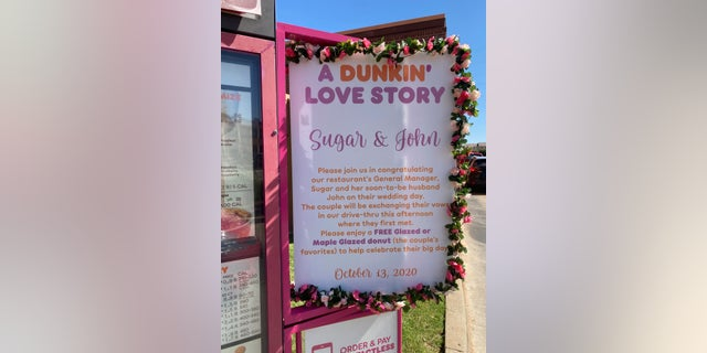 Oklahoma couple weds in Dunkin' drive-thru where they first met