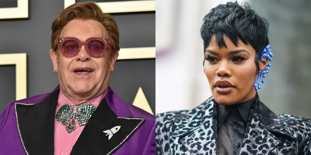 "Elton John, links, appeared in Teyana Taylor's self-directed ""Lose Each Other"" musiek video."