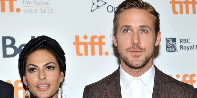 Eva Mendes (left) and Ryan Gosling (right) share two young daughters. (Photo by Sonia Recchia/Getty Images)