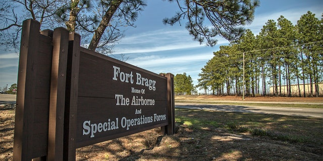 The sign at the entrance of Fort Bragg, NC.