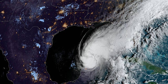 Tropical Storm Gamma can be seen off Mexico's Yucatan Peninsula on Oct. 4, 2020.