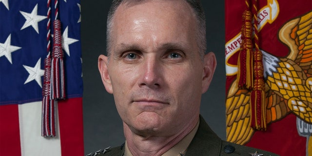 In this image provided by the U.S. Marine Corps, then-Marine Corps Lt. Gen. Gary L. Thomas, deputy on Aug. 8, 2016.