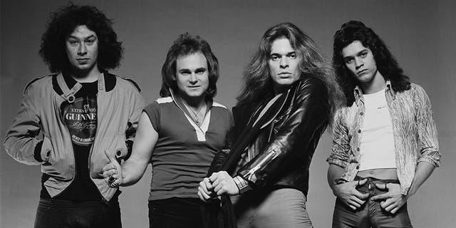 Van Halen in London in May 1978. From left: Alex Van Halen, Michael Anthony, David Lee Roth, Eddie Van Halen.