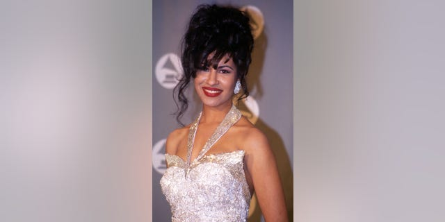 Selena in the press room at the 1994 Grammy Awards in New York City, New York.