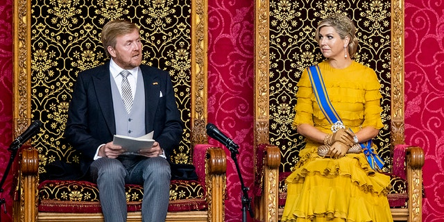 King Willem-Alexander of the Netherlands and Queen Maxima of The Netherlands pictured here in September 2020. The pair's recent trip caused an uproar in the Netherlands as it came three days after the Dutch government advised locals to spend their fall vacations at home to contain the spread of the coronavirus.