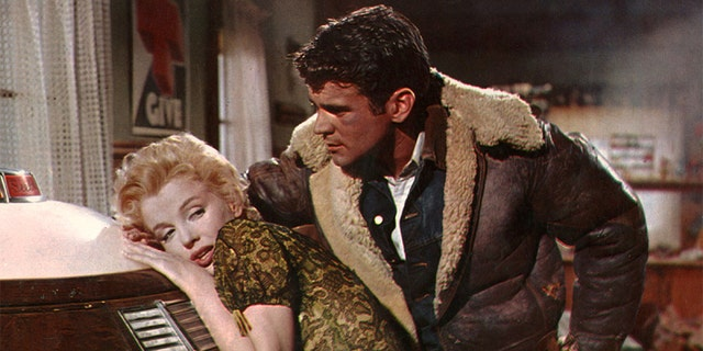 Marilyn Monroe and Don Murray starred in the 1956 film 'Bus Stop.'