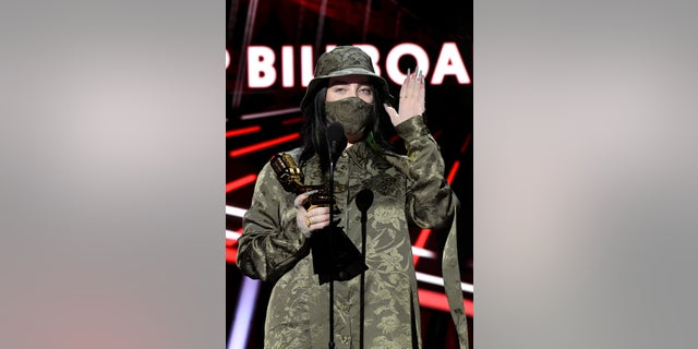 Billie Eilish called those who unfollowed her 'babies' after losing 100,000 Instagram followers after her viral 'Post a Picture Of' social media post. (Photo by Kevin Winter/BBMA2020/Getty Images for dcp)