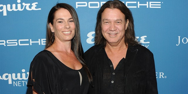 Musician Eddie Van Halen and his wife Janie Liszewski in 2013. Liszewski paid tribute to her late husband on Wednesday. (Photo by Jamie McCarthy/Getty Images for Esquire)