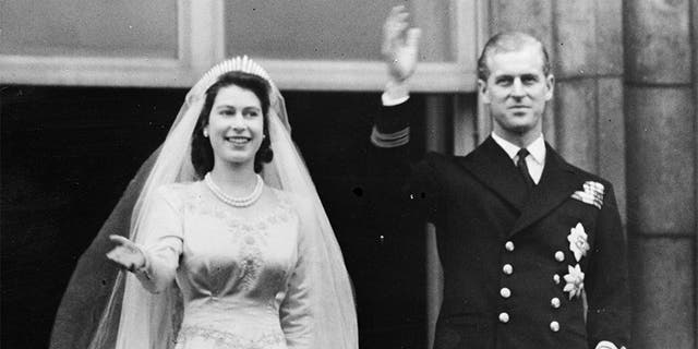The couple tied the knot in 1947 when Elizabeth was 21 and Philip was 26.