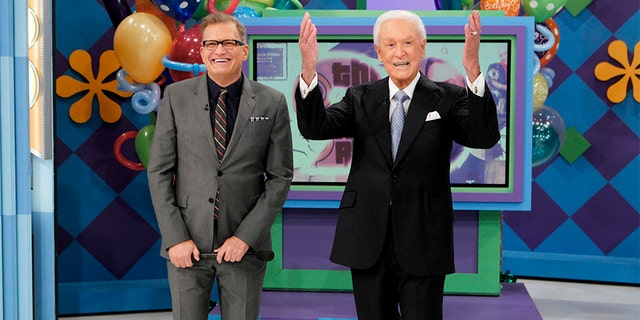 Bob Barker (right), pictured here with Drew Carey, hosted 'The Price is Right' from 1988 until 2007.