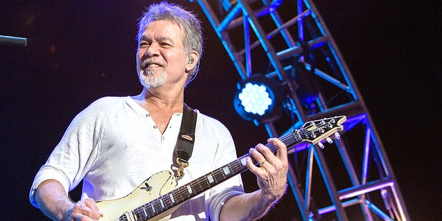 Guitarist Eddie Van Halen of Van Halen performs on stage at Sleep Train Amphitheatre on September 30, 2015 in Chula Vista, California. (Photo by Daniel Knighton/Getty Images)