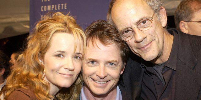 (L-R) Lea Thompson, Michael J. Fox and Christopher Lloyd