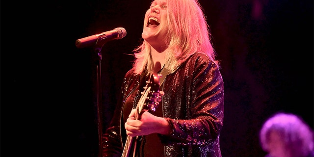 Singer Cathy Richardson of the Jefferson Starship performs onstage at The Canyon Club on April 6, 2018, in Agoura Hills, California.