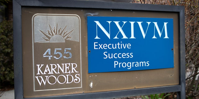 The NXIVM Executive Success Programs sign outside of the office at 455 New Karner Road on April 26, 2018, in Albany, N.Y. Keith Raniere, the founder of NXIVM, was arrested by the FBI in Mexico in March of 2018.