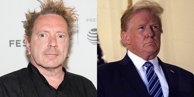 Johnny Rotten (left) said he's supporting President Trump.