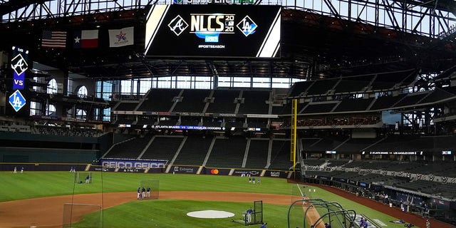 Globe Life Field will be the host for the World Series. (AP Photo/Sue Ogrocki)