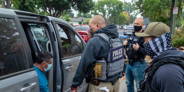 ICE detained more than 100 illegal immigrants in a five-day operation in California. (ICE/Michael Johnson)