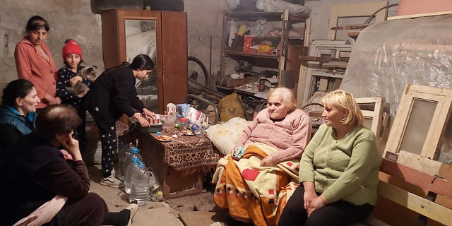 Displaced from the ongoing clashes in Nagorno-Karabakh, families seek aid from the International Committee of the Red Cross (ICRC).