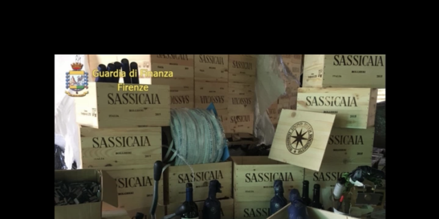 Italian investigators confiscated thousands of bottles of fake Bolgheri Sassicaia by Tenuta San Guido wine.