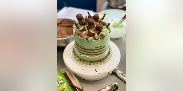 A cake from Anges de Sucre bakery in London. (Courtesy of Reshmi Bennett).