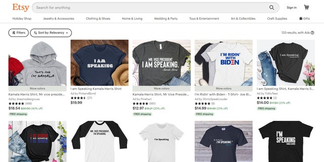 "Shortly after the debate, sellers on Amazon and Etsy began marketing shirts with the phrase ""I'm speaking"" or ""Mr. Vice President, I'm speaking"""