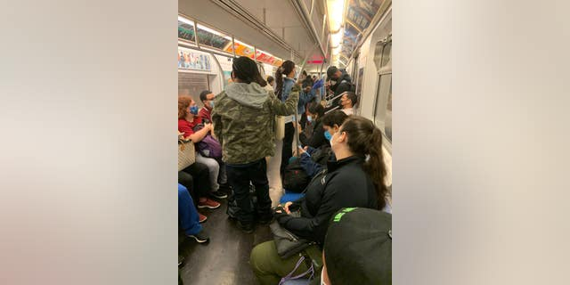 Cuomo's office denied looking the other way on social distancing in the subway.