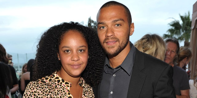 Jesse Williams (R) and his now-ex-wife Aryn Drake-Lee in 2010. (Photo by John Shearer/Getty Images for GQ Magazine)