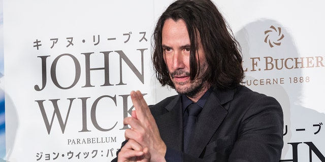 """Keanu Reeves, the star of the """"John Wick"""" film franchise, is seen at the third film's premiere in Tokyo. A ride based on the movies is currently slated to open in Dubai in 2021."""