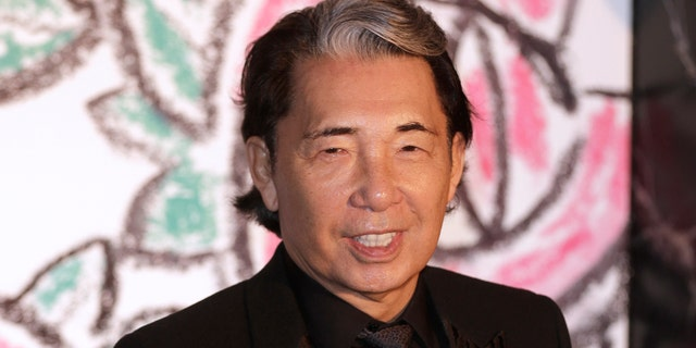 Kenzo Takada has died at the age of 81 from coronavirus complications. (AP Photo/Lionel Cironneau, file)