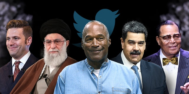 Louis Farrakhan, Richard Spencer, Ali Khamenei, Maduro, O.J. Simpson have more freedom on Twitter than President Trump (Photo credit: Getty Images)