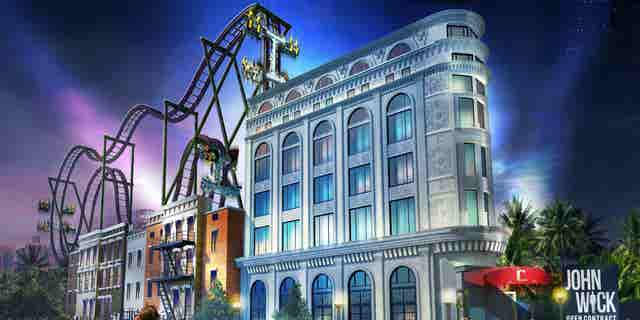 """The ride will transport guests to The Continental — an in-film hotel for the world's best assassins — and send them """"on a journey that simulates the epic action of the '<a href=""""/travel/lionsgate-entertainment-city-to-bring-hunger-games-mad-men-themed-attractions-to-times-square"""" target=""""_blank"""">John Wick</a>' world,"""""""