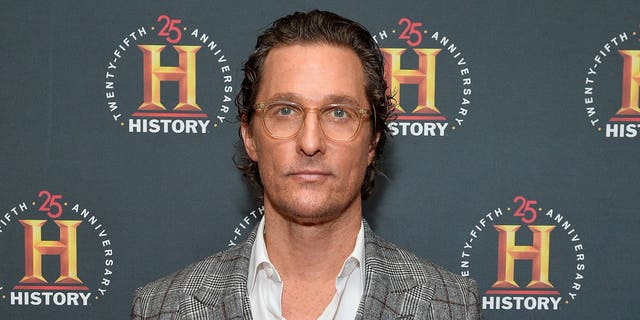 Matthew McConaughey says he considered several other careers including teaching and coaching football before choosing to stick with acting. (Photo by Noam Galai/Getty Images for HISTORY)