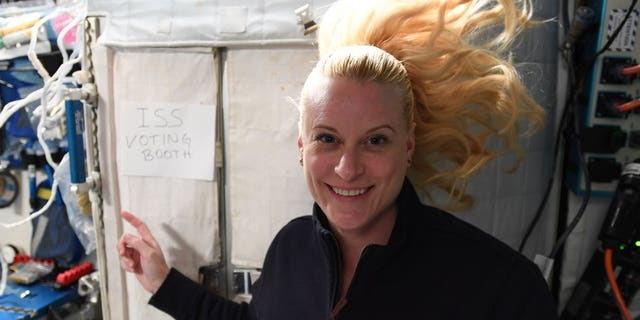 NASA astronaut Kate Rubins casts 2020 vote from area